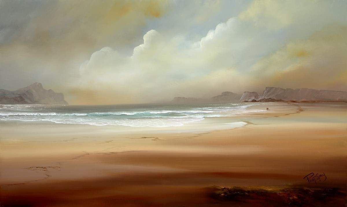 A Walk on the Sands III by Philip Gray -  sized 40x24 inches. Available from Whitewall Galleries